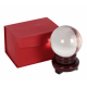 Crystal Ball On Wooden Stand 10cm