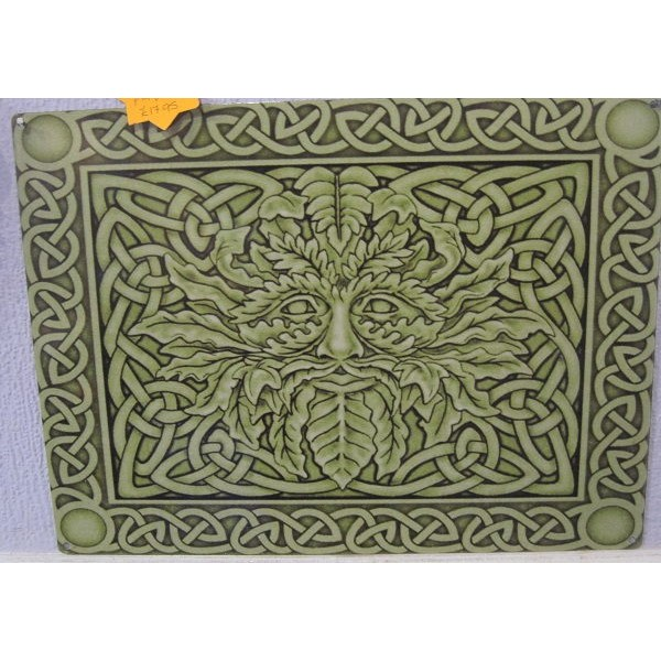 Green Man Metal Wall Plaque