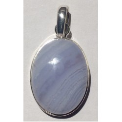 Pendant Blue Lace Agate and Silver