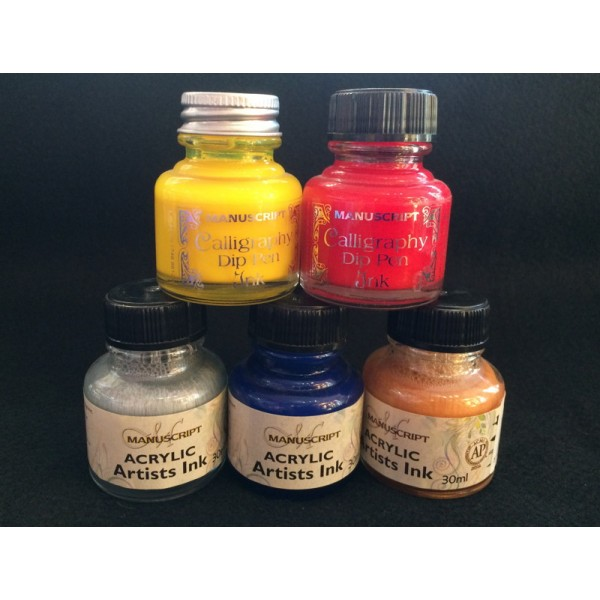 Acrylic Artists Ink Gold