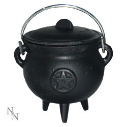 Cast Iron Cauldron Pentagram 8cm