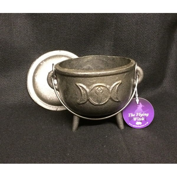 Cast Iron Cauldron Triple Moon 8.5cm