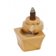 Incense Cone Holder BACKFLOW Burner Tan