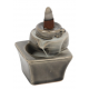 Incense Cone Holder BACKFLOW Burner Grey